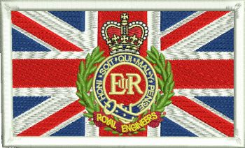 Union Jack RE Embroidered Badge
